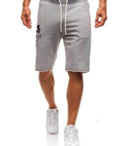Pantaloni scurti sportivi pentru barbat gri Bolf A9601
