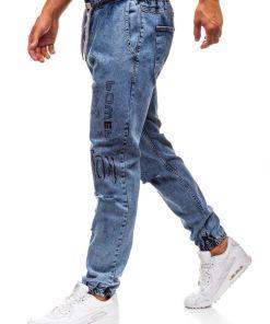 Jeansi baggy pentru barbat albastri Bolf 2037