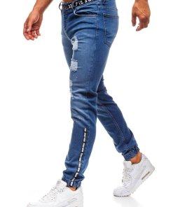 Jeansi joggers pentru barbat albastri Bolf 2042