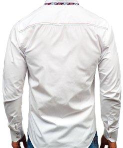 Camasa eleganta cu maneca lunga pentru barbat alba Bolf 2701
