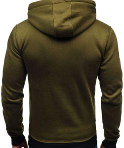 Bluza cu gluga pentru barbat verde Bolf DD593