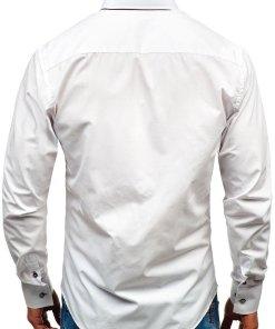 Camasa eleganta cu maneca lunga pentru barbat alba Bolf 2767