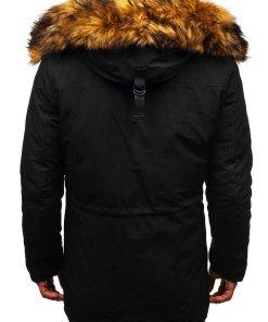 Geaca de iarna pentru barbat neagra Bolf 99126