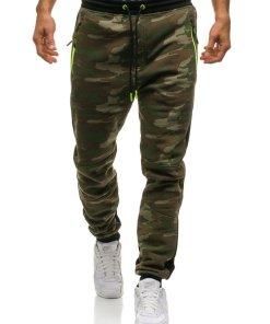 Pantaloni pentru barbati sportivi jogger camuflaj multicolor Bolf 3783C-A