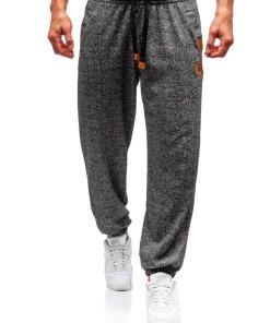 Pantaloni jogger sportivi pentru barbati grafit Bolf Q3471
