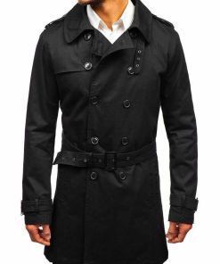 Palton barbati negru Bolf 5710