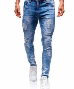 Jeansi barbati albastri Bolf 3947