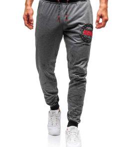 Pantaloni de trening barbati grafit Bolf 300128