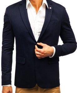 Sacou elegant barbati bleumarin Bolf 191060