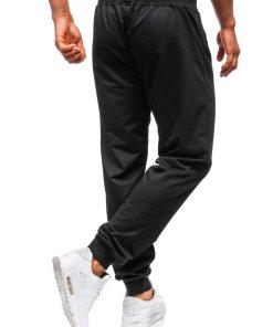 Pantaloni de trening barbati negri Bolf MK05