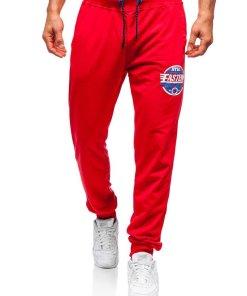 Pantaloni de trening barbati rosii Bolf MK05