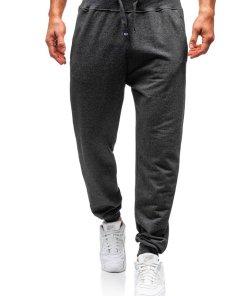 Pantaloni de trening barbati gri-antracit Bolf 145364