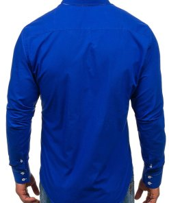 Camasa eleganta barbati albastru-aprins Bolf 1721-A