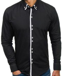 Camasa eleganta barbati negru Bolf 1721-A