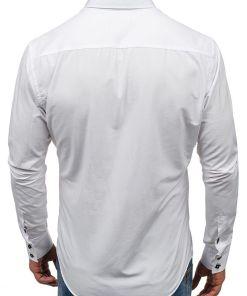 Camasa eleganta barbati alb Bolf 1721-A