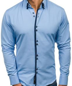 Camasa eleganta barbati albastru-deschis Bolf 1721-A