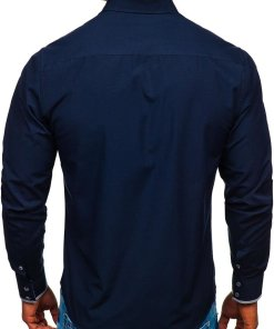 Camasa eleganta barbati bleumrin Bolf 4713-A