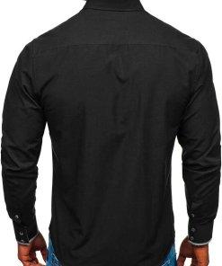 Camasa eleganta barbati negru Bolf 4713-A