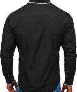 Camasa eleganta barbati negru Bolf 6929-A