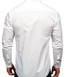 Camasa cu manea lunga barbati alb Bolf 5746-A
