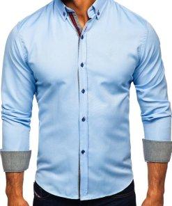 Camasa eleganta barbati albastru Bolf 5801-A