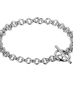 Bijuterii eshop - Bratara argint - ochiuri duble, închidere cu inel X44.16