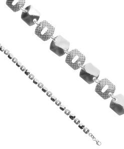 Bijuterii eshop - Bratara argint - p?trate lucioasa, stil vaf? Y51.8
