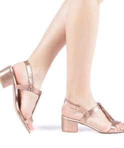 Sandale dama Klasia champanie