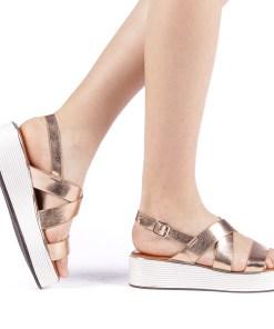 Sandale dama Sariba champanie