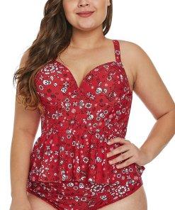 Printed Plus Size Bikini Carolynn Red