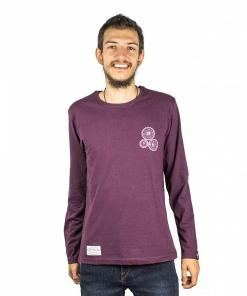 Tricou Cogs Long Sleeve burgundy