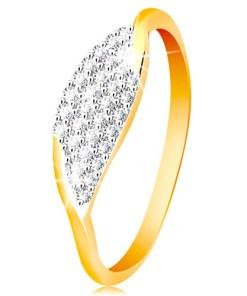 Bijuterii eshop - Inel din aur de 14K - bobi?? mare cu zirconiu transparent, încorporat GG201.88/94 - Marime inel: 50