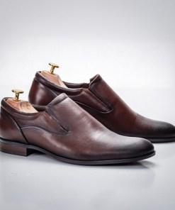 Pantofi barbati Piele naturala eleganti maro inchis Callew