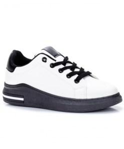 Pantofi dama sport piele ecologica albi Doralie