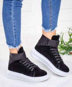 Pantofi dama sport textil negri Iusiri