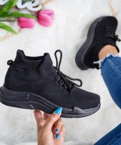 Pantofi dama sport textil negri Vamsi