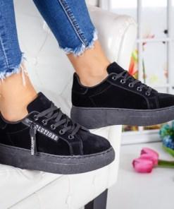 Pantofi dama sport textil negri Vinila
