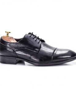 Pantofi eleganti barbati Piele naturala negri Valliew