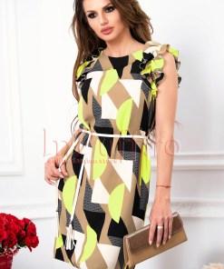 Rochie de zi midi cu imprimeu geometric