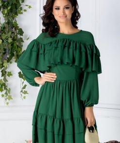 Rochie LaDonna Daisy verde cu volanase