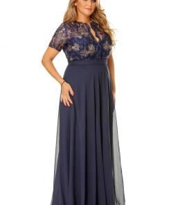 Rochie Plus Size Estela Bleumarin