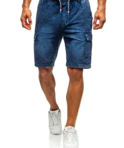 Pantaloni scurți denim bărbați bleumarin Bolf 5781