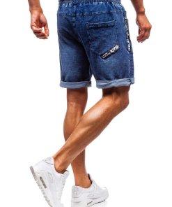 Pantaloni scurți denim bărbați bleumarin Bolf 5788