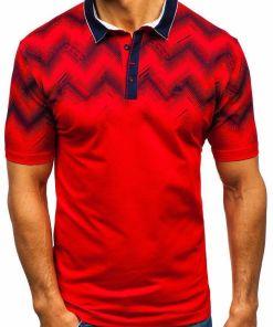 Tricou polo bărbați roșu Bolf 6601