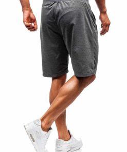 Pantaloni scurți sport bărbați grafit Bolf DK01
