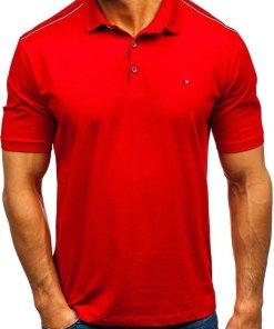 Tricou polo bărbați roșu Bolf 6797