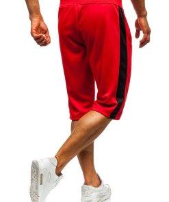 Pantaloni scurți de trening bărbați roșu Bolf 81011