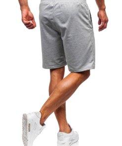 Pantaloni scurți training bărbați gri Bolf AA10-A