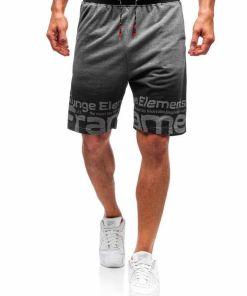 Pantaloni scurți training bărbați grafit Bolf 300122-A