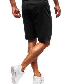 Pantaloni scurți training bărbați negru Bolf KK301